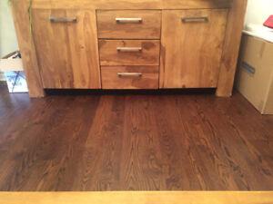 Solid Dining Table in Rosewood With Matching Hutch
