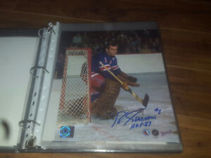 Ed Giacomin New York Rangers Autographed Goalie 8x10 Photo