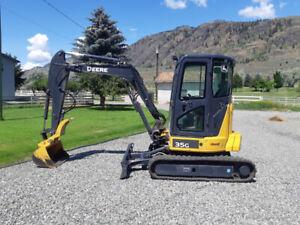 2018 John Deere 35 G mini excavator $54,000 134 hours!