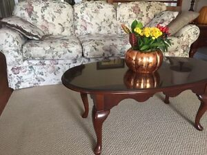 Couch/love seat/2 end tables and coffee table