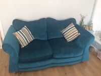 DFS Elin Teal Chenille Sofa-bed