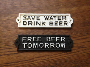 Cast Iron Beer sign