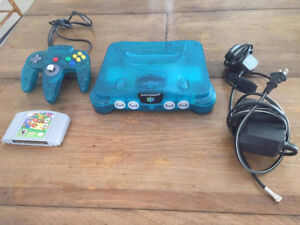 ICE BLUE N64 WITH MATCHED CONTROLLER