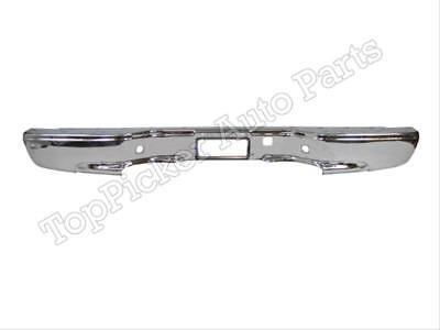 For 1999-2007 Silverado Sierra Fleetside Rear Step Bumper Chrome Face Bar
