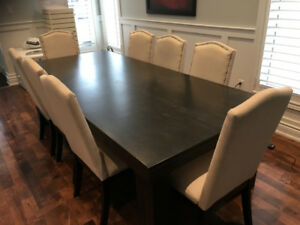 Custom Maple Dining/ Harvest Table and Chairs - 1 1/2 years old
