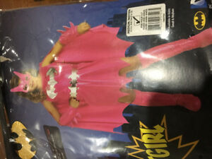Pink BatGirl costume 5-7 year olds sz 8-10