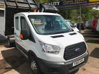 2015 65 Ford Transit 2.2TDCi ( 125PS ) CREWCAB TIPPER DROPSIDE 350 L3H1 7 SEATS