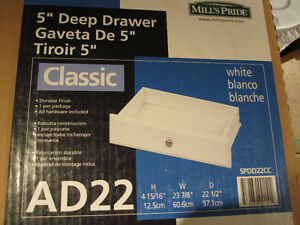 5 inch white drawer kits