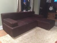 3 seater brown sofa bed for sale