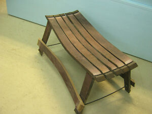 Wine Stave Bench For the Wine Enthusiast Strathcona County Edmonton Area image 2