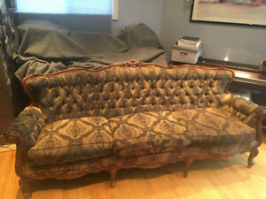 French Provincial 3 Seater Couch