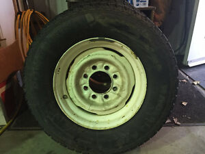 4 rims and tires, fit GMC