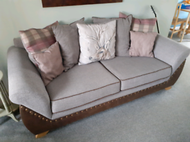 3 and 2 seater fabric & leather scatter back sofas / couches