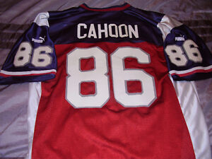 CFL Alouettes retro Ben Cahoon home replica football jersey