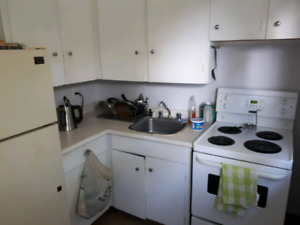 Nov 1st. Large one bedroom. Heat and hot water incl.. Laundry