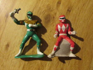 POWER RANGERS Rubber Toy Action Figure Lot 4 inch Bandai Saban