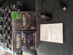 2 call of duty games & headset