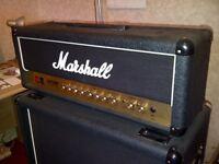 Marshall DSL 100 head and 1960b cab