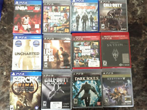 PS3+11 games and 4 PS4 games