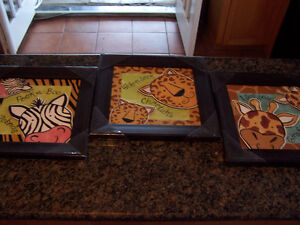 Contemporary Child`s Wildlife Art (3 pictures) by R.Lyon