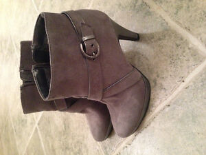 Like new grey suede booties
