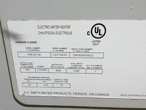 Big commercial electric hot water tank