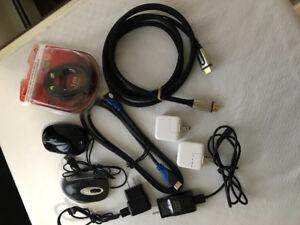 Cables, cords etc.