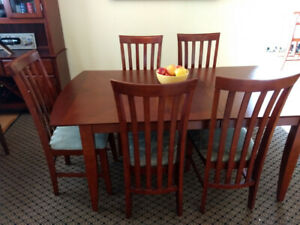 PRICED FOR QUICK SALE - Dining set and cabinet