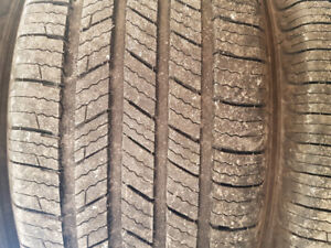 SET OF 225 55 17 MICHELIN TAKE OFF TIRES
