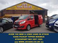 2013 63 FORD TRANSIT CUSTOM SPORT ST SWB 155 BHP AIR CON + LEAHTER + SAT