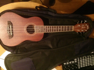 Washburn OU26 six string ukulele with soft case