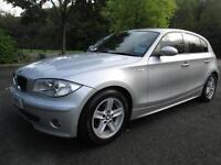 05/55 BMW 120I SPORT 5DR HATCH IN MET SILVER WITH ONLY 73,000 MILES