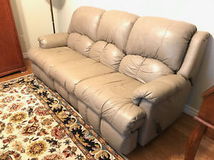 LEATHER SOFA - good condition