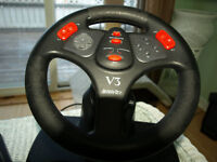 Gamers Adjustable Steering Wheel and Pedals -$5.00