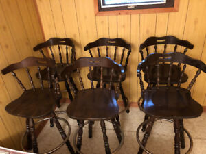 Six bar stools for sale