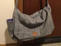 Baby change bag / satchel win mat wool