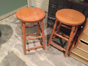 COUNTER HEIGHT WOOD STOOLS