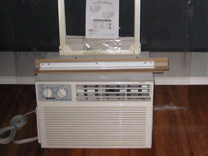 "WINDOW AIR CONDITIONER ALMOST NEW + TRANSPARENT ACRYLIC 32""x35"""