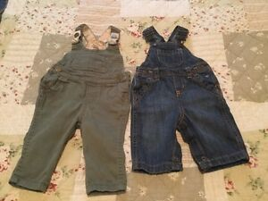 0-3 and 3-6 month Overalls and Jeans- 5 pieces total London Ontario image 1