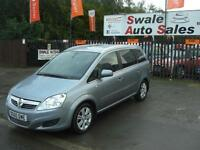 2010 VAUXHALL ZAFIRA DESIGN 1.8L ONLY 80,460 MILES, 7 SEATER, IDEAL FAMILY CAR