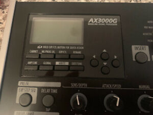 Korg AX3000G Guitar Pedal and effects. Open box never used.