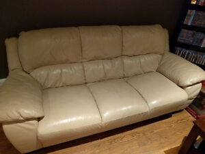 Divan 3 places en cuir / Leather couch for sale