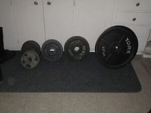 Olympic weights with Barbell