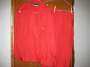 Addition-Elle size 24 red blouse and skirt outfit