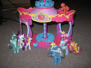 My Little pony lot with working merry go round