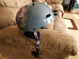 Snow board helmet and goggles