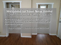 Two Bedroom Apartment Between Carleton & Algonquin, Avail. Now!