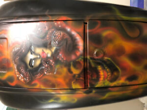 Custom airbrush artist. From sports equipment to motorcycles
