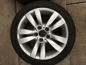 BMW RIMS WITH 225 45 17 TIRES