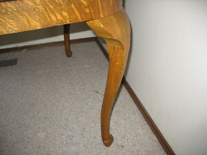 Tiger Oak antique dining table and chairs Strathcona County Edmonton Area image 6